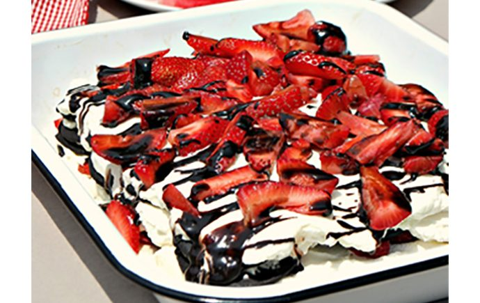 Red and White Icebox Cake