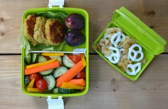 Bento Box Lunch #2 - Crispy Chickpea Patties