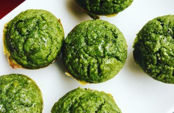 healthy spinach muffins