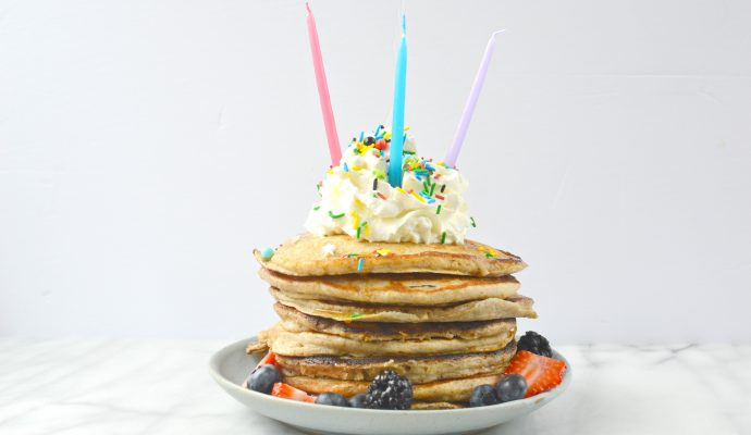 birthday breakfast pancakes