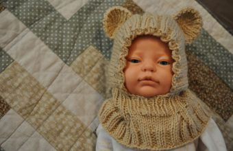 knit hat baby bear toddler