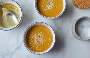 Salted Caramel Pots de Creme in a slow cooker