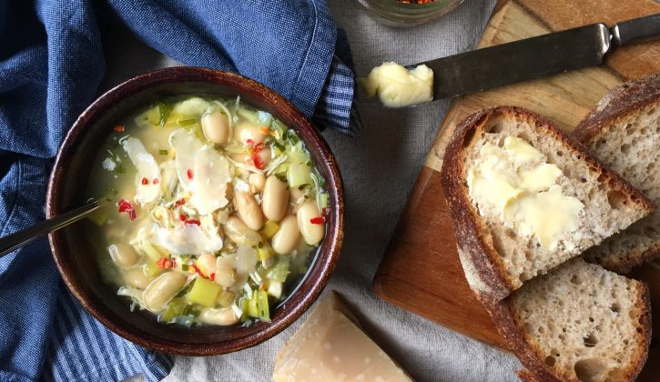 Chicken, White Bean, Leek Soup - 5 ingredient meals easy weeknight recipes for families